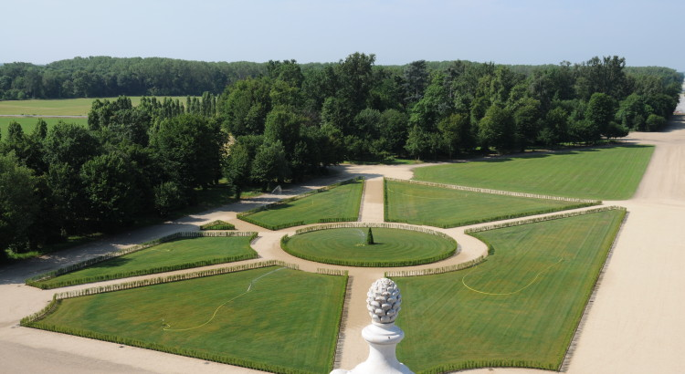 Vista dalla balaustra della Palazzina (lato verso i giardini)